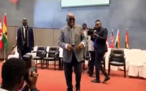 VIDEO: Akufo-Addo in 'victory dance' with NPP supporters in London