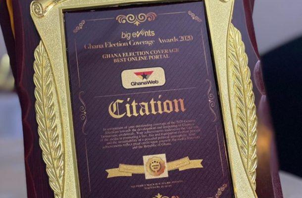 GhanaWeb adjudged Best Online Portal for 2020 election coverage