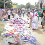 Kumasi Central Business District flooded with NPP paraphernalia