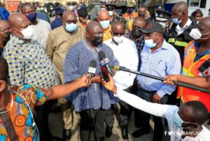 PHOTOS: Bawumia tours Kantamanto fire scene; hints of new market