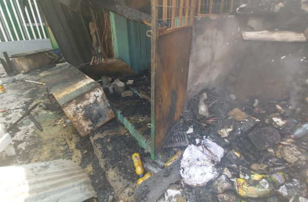 A/R: Shops at KNUST campus razed by fire