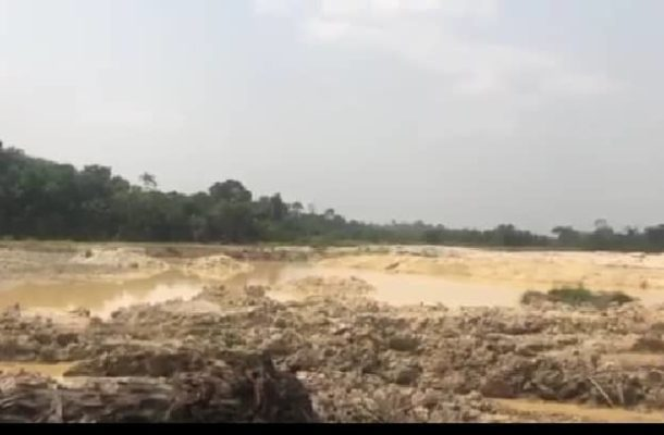 Galamseyers takeover Obuasi Oil Plantation and Processing Factory site