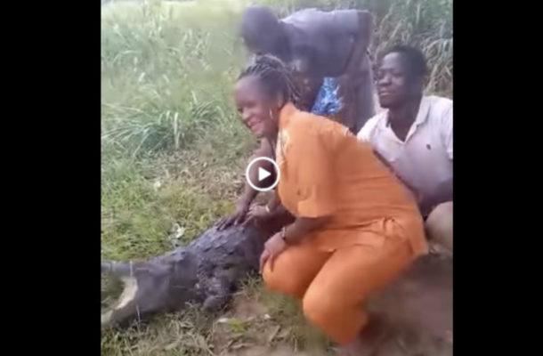 Woman in Ave Dakpa crocodile attack video sustained minor injury
