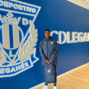Ghanaian youngster Abdul Razak Yusif trains with Leganes
