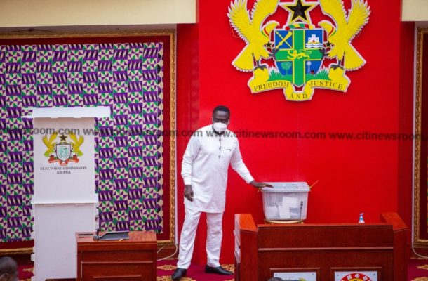 PHOTOS: Injuncted Assin North MP cast vote for speaker of parliament