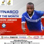 Gladson Awako wins GPL NASCO player of the month December