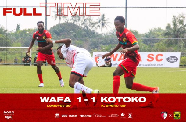 Kwame Opoku rescues a draw for Kotoko in Sogakope