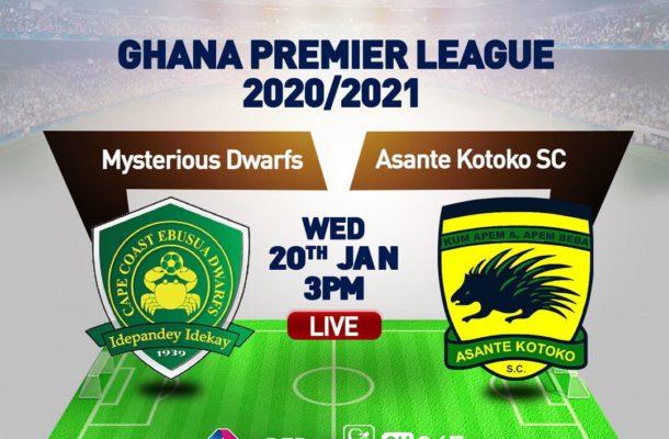 Kotoko announces squad to face Ebusua Dwarfs