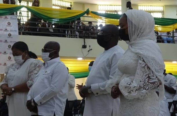 Akufo-Addo storms Kyebi Presby Church to thank God for his election victory