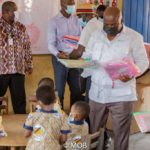 Michael Okyere Baafi donates to KG pupils; urges teachers to protect yongsters from COVID-19