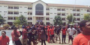 University of Ghana students embark on wild protest