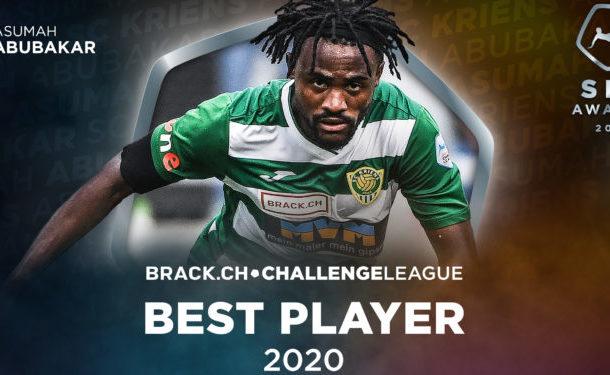 Asumah Abubakar-Ankrah named best player in Swiss Challenge League 2020