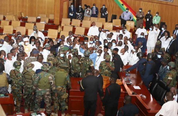 Amanda Akuokor Clinton: Military interference in Parliament a one-off?