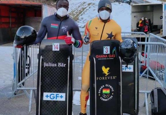 Ghana's Akwasi Frimpong inspires Gambian Amadou Krubally to love Winter Sports
