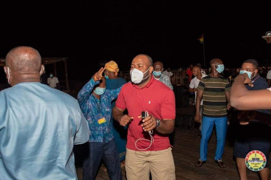 PHOTOS: MPs defy Akufo-Addo's directive to organise a party at Aqua Safari