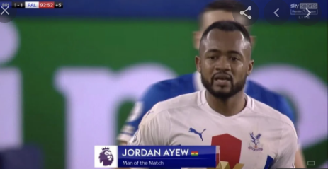 Jordan Ayew adjudged man of the match in Crystal Palace win over Brighton