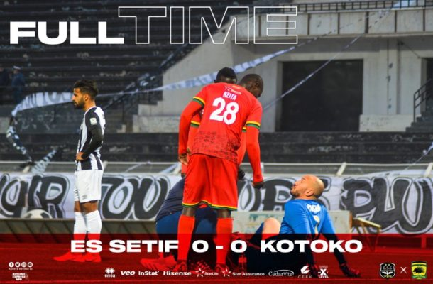 Kotoko eliminated from CAF Confederations Cup after goalless draw with ES Setif