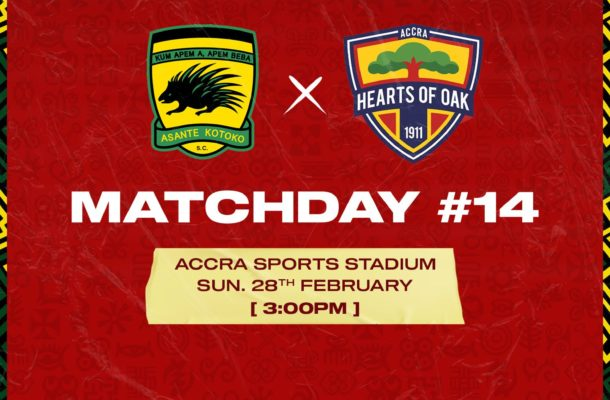 Starting XI for both Kotoko and Hearts revealed