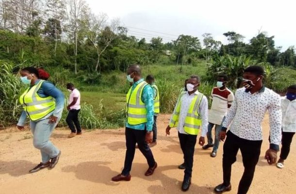 Akuapem North: MP, MCE inspect road construction project at Mangoase