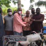 E/R: Man donates motorbike, PPE to Ayensuano NPP