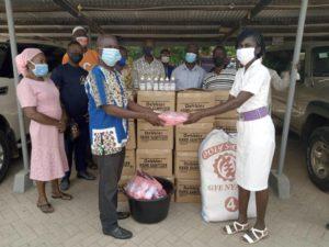 Atiwa West DCE donates PPE to GPRTU; touts developmental projects