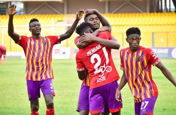 GPL: Isaac Mensah the hero as Hearts stun hapless Liberty Professionals