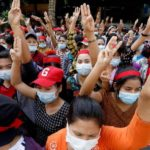 Myanmar coup: Internet shutdown as crowds protest against military