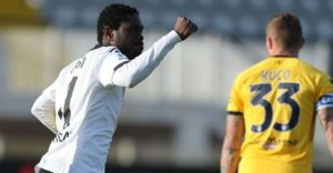Emmanuel Gyasi scores twice to rescue a draw for Spezia