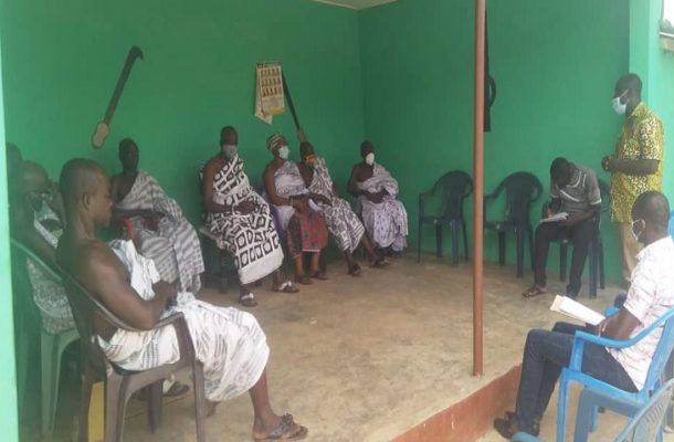 A/R: Chief commends Adansi Asokwa NCCE over COVID-19 education