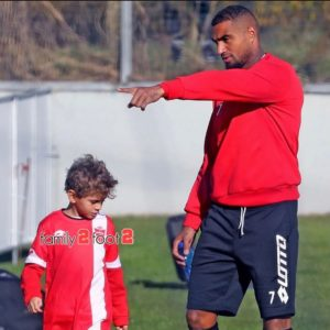 PHOTOS: AC Monza's KP Boateng trains with his adorable son Maddox