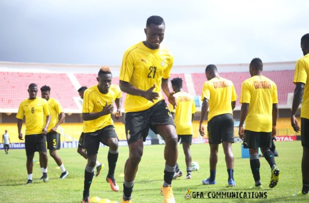 PHOTOS: Black Stars hold final training session ahead of Sao Tome game