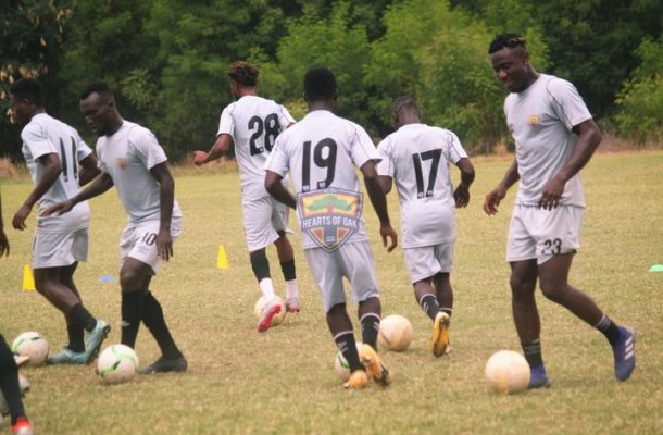 Hearts of Oak intensify training ahead of second round contest