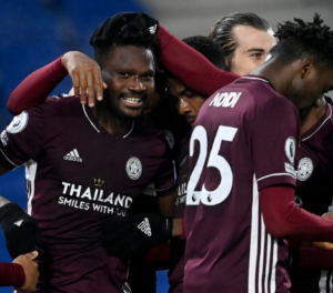 Daniel Amartey's late header gives Leicester City vital win