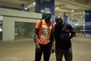 PHOTOS: Victorien Adebayor arrives in Ghana to complete Legon Cities move