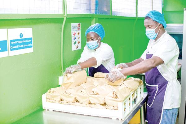 GIZ provides meals for frontline workers, vulnerable groups
