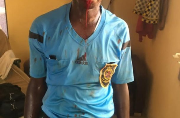 PHOTOS: Supporters of Wamanafo Mighty Royals beat referees after DOL match