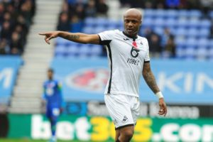 André Ayew with Swansea on the way back to the Premier League