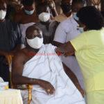 Asantehene and wife take COVID-19 vaccine