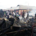 Fire guts Sunyani timber market