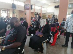 PHOTOS: Anas Aremeyaw storms funeral of Kweku Baako's mother
