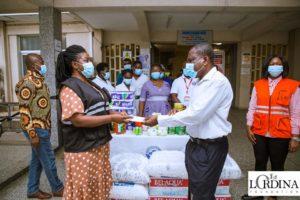 PHOTOS: Former first lady Lordina Mahama supports girl abandoned by family at Korle Bu Hospital
