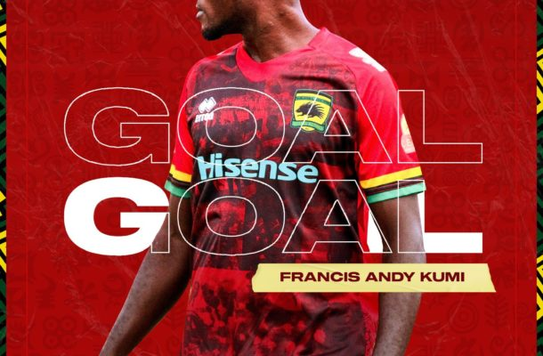 VIDEO: Watch new striker Andy Kumi's first goal for Kotoko against Bechem United