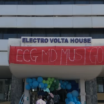 ECG staff on demonstration in protest against Managing Director
