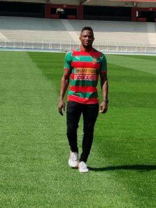MC Algiers striker Joseph Esso shows gratitude to former side Dreams FC