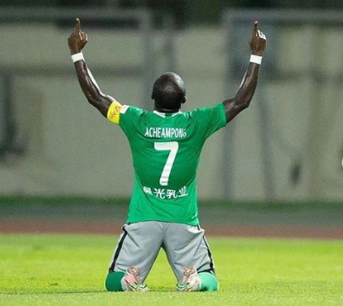 Frank Acheampong scores on his Shenzen FC debut