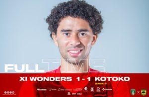 VIDEO: Fabio Gama scores first Kotoko goal as XI Wonders rally to earn a draw