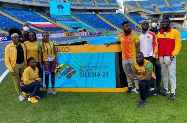 Ghana's relay athletics team arrive in Poland for World Athletics Relay