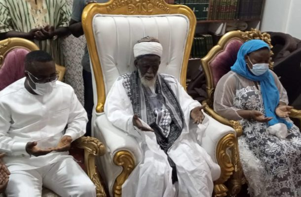 NPP chairman, Divine Otoo marks birthday with a donation Chief Imam