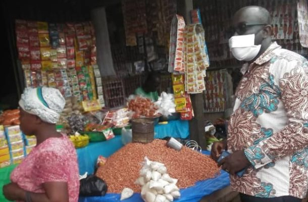 Adansi Asokwa NCCE takes COVID-19 education to Fumso market ahead of Easter festivities