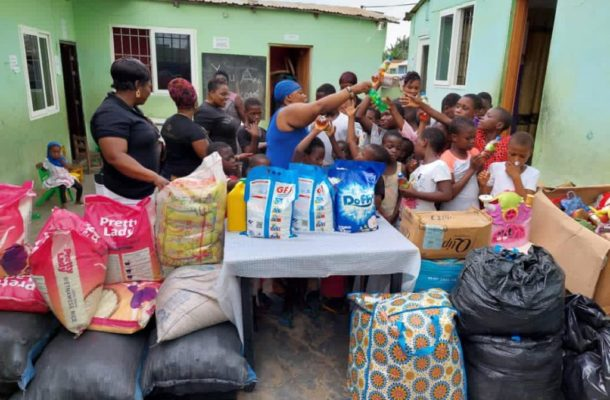 Sisters Keepers Association donates to Enough Grace Orphanage Home at Awoshie